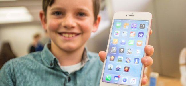 Barn mobiltelefon
